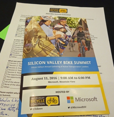 SVBC and its sponsors hosted a bike summit in Mountain View.