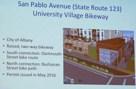 First separated bikeway on a state highway will be located in Albany on San Pablo Avenue.