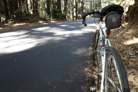 The length of Hwy 236 from Hwy 9 into Big Basin park has been repaved.