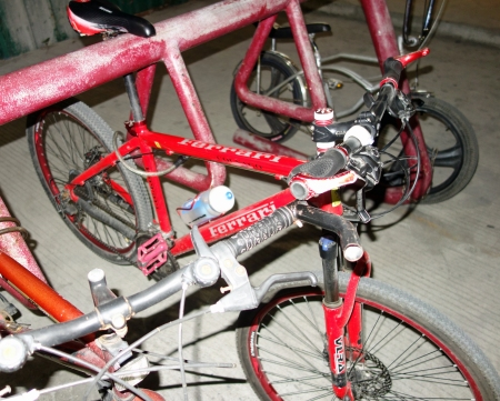 Colnago Ferrari. I'm assuming this is a knock-off of the real thing, which does exist.