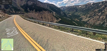 Hwy 212 in Montana, Beartooth Pass, is one of the most scenic in the U.S. (Google Maps photo)