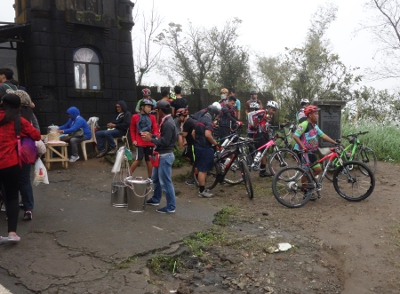 Riders at the summit and entrance to Palace in the Sky prepare for the descent.